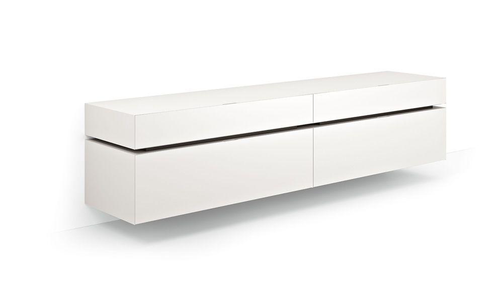 Sideboard wandmontage  Wandmontiertes Sideboard / modern / lackiertes Holz - LOUNGE ...