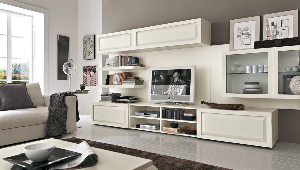 Moderne Wohnwand / lackiertes Holz - COMPOSIZIONE 2 VINTAGE ...