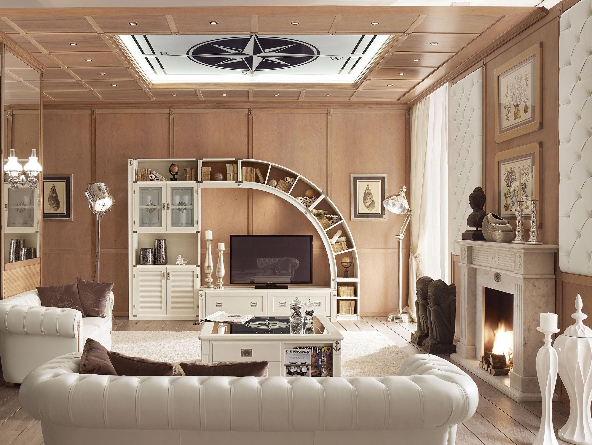 klassische wohnwand holz glas 848 caroti - Wohnwand Holz
