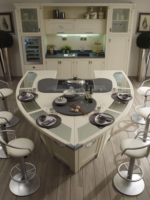 Moderne küche / holz / kochinsel / lackiert   847   caroti   videos
