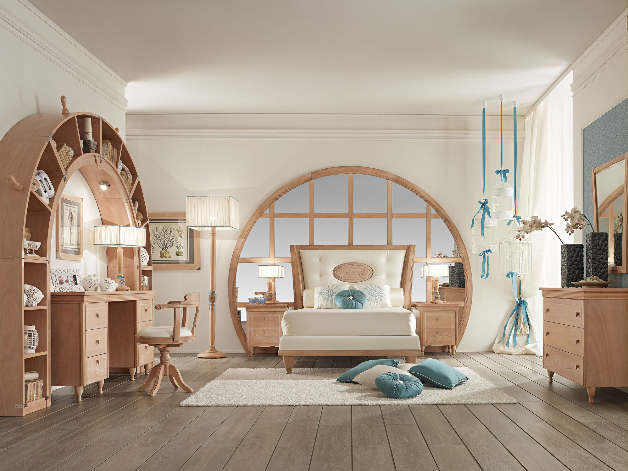 Kinderzimmer holz  Kinderzimmer für Mädchen / Holz - 849 - Caroti