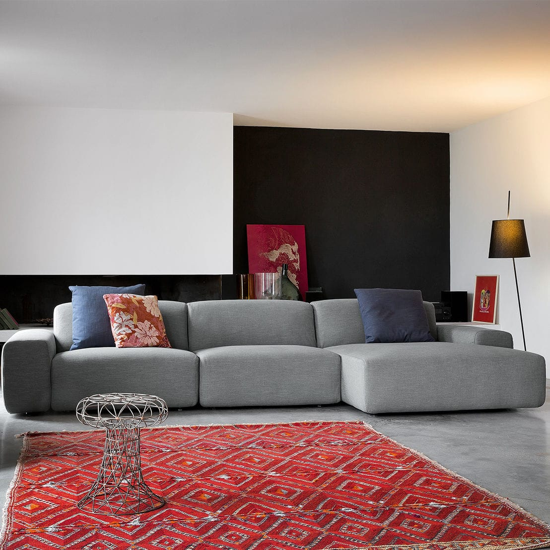 Modulierbares Sofa / Eck / modern / Stoff - DOMINO - Dall\'Agnese ...
