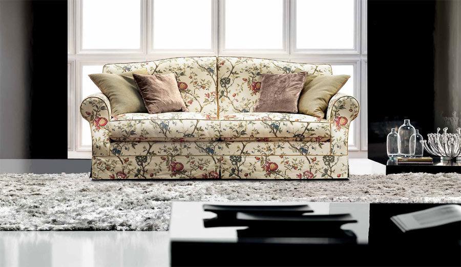 Attraktiv ... Klassisches Sofa / Landhausstil / Stoff / 2 Plätze