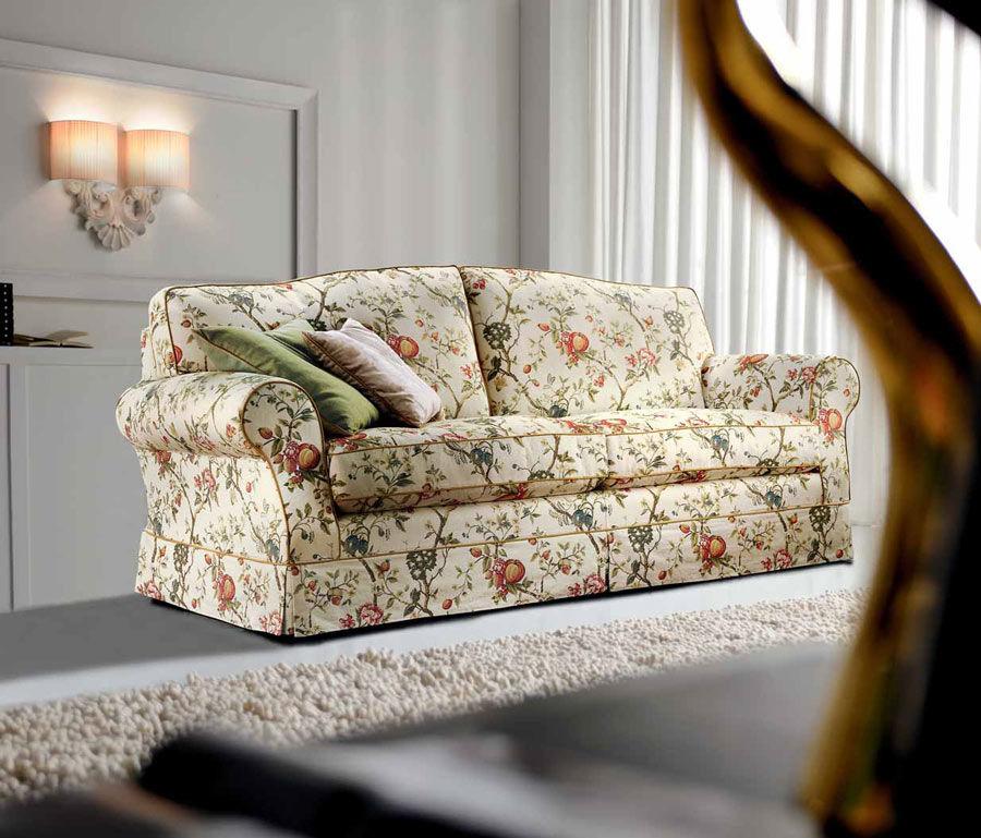 Klassisches Sofa / Landhausstil / Stoff / 2 Plätze ...