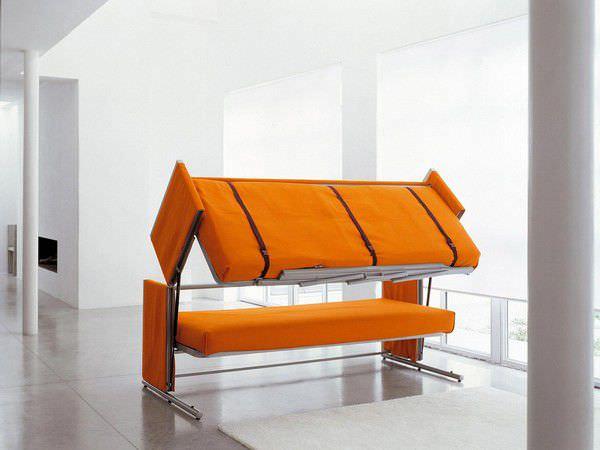 GroB Bettsofa / Modern / Metall / 2 Plätze DOC By Giulio Manzoni Clei