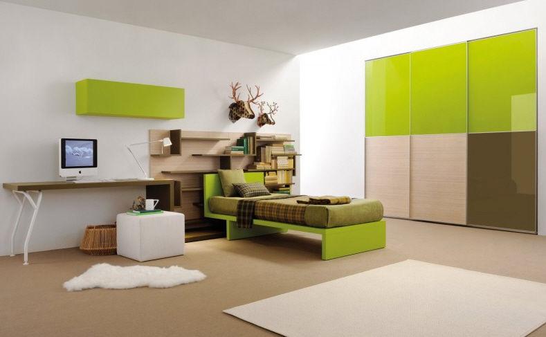 unisex-kinderzimmer / grün - alpine 008 - clever - Das Moderne Kinderzimmer