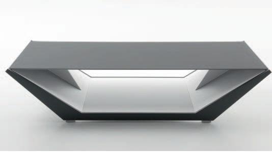 Moderner Couchtisch Glas Rechteckig Innenraum Nido Compar