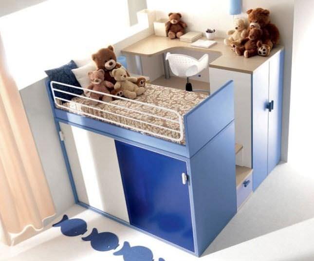 Einzelbett modern  Einzelbett / modern / für Kinder / für Jungen - 909 - Doimo Cityline