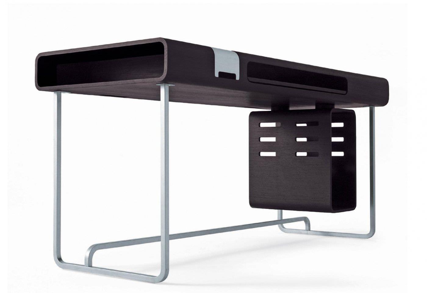 Computertisch modern  Moderner Computertisch / aus Eiche / aus Wenge / rechteckig ...