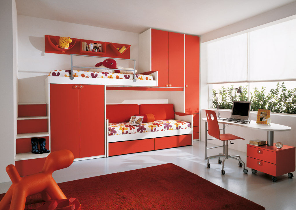 Unisex-Kinderzimmer / orange - P.1 - Faer Ambienti