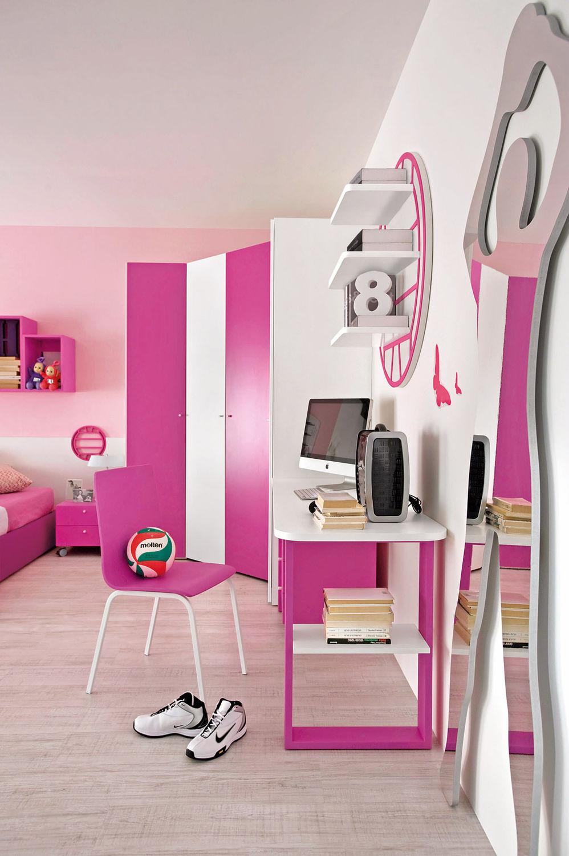 Kinderzimmer für Mädchen / rosa - SPORT - VOLLEY 2 - Faer Ambienti