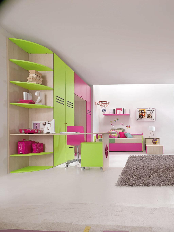 Kinderzimmer für Mädchen - SPORT - BASKET 2 - Faer Ambienti