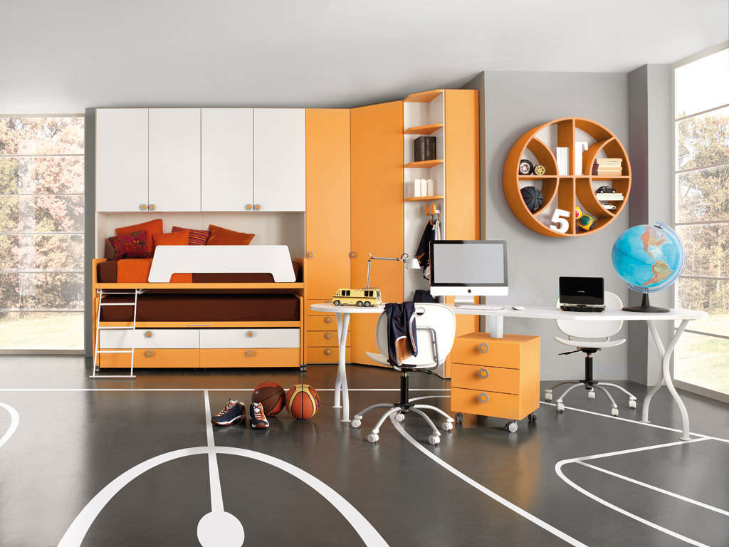 Kinderzimmer orange junge