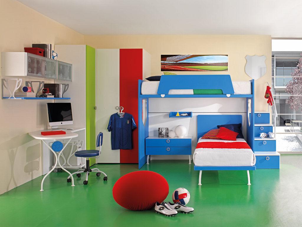 Kinderzimmer für Jungen - SPORT - CALCIO 5 - Faer Ambienti