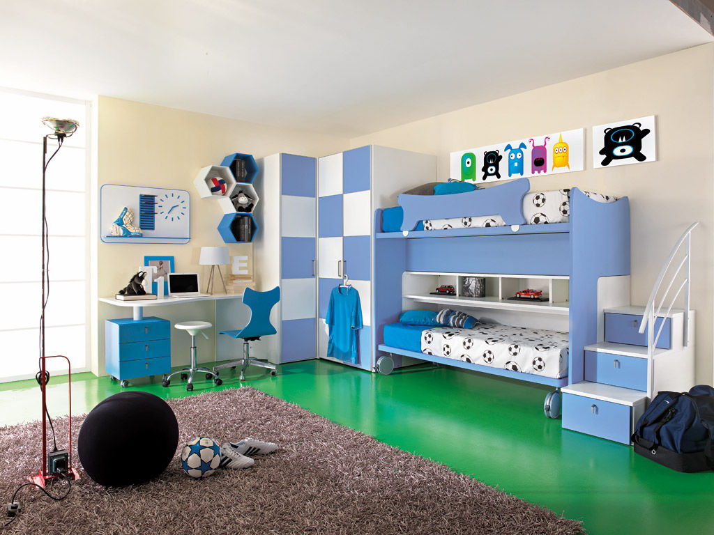 Kinderzimmer für jungen   sport   calcio 6   faer ambienti