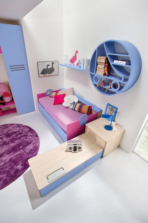 Kinderzimmer Roller | Blaues Kinderzimmer Fur Madchen Sport Roller 2 Faer Ambienti