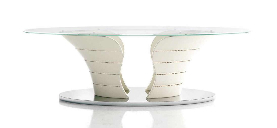 Esstisch Oval Glas moderner esstisch glas oval babylon formenti