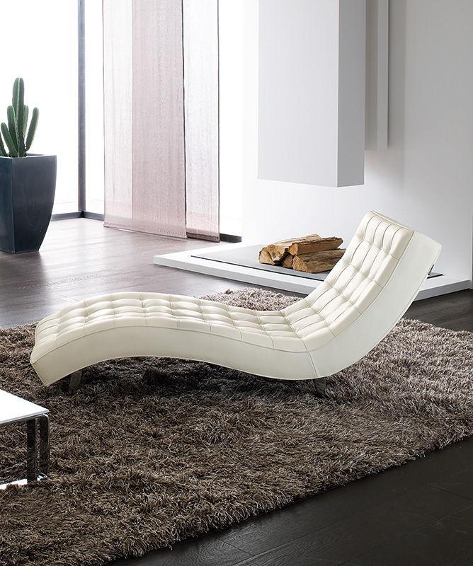 Moderne Liege / Leder / Aus Aluminiumguss