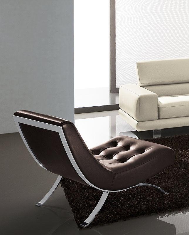 Moderner Kaminsessel / Leder / Metall / Wohnzimmer   VINTAGE By Zeno Nugari