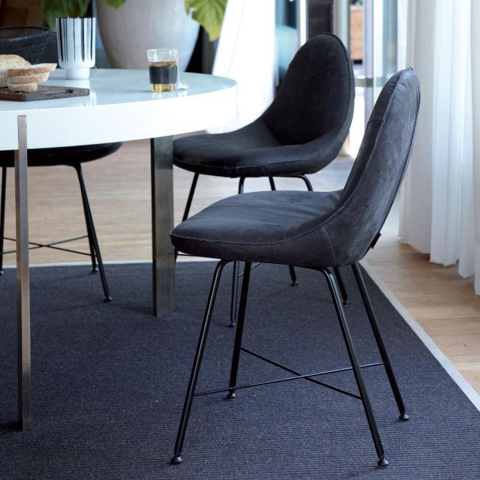 Moderner Stuhl Leder Schwarz Livia By Gerard Van Den Berg