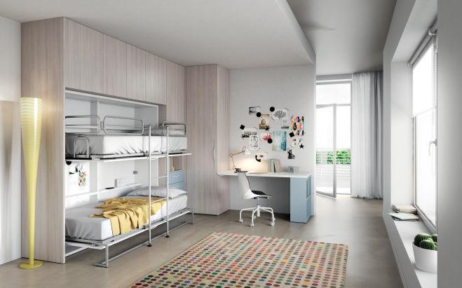 Etagenbett Schrankbett : Schrankbett etagen einfach modern evo salvaspazio mistral