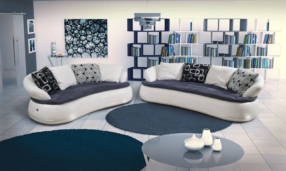 Sofa rund oval  Halbrundes Sofa / rund / modern / Leder - ESPACE - Nieri