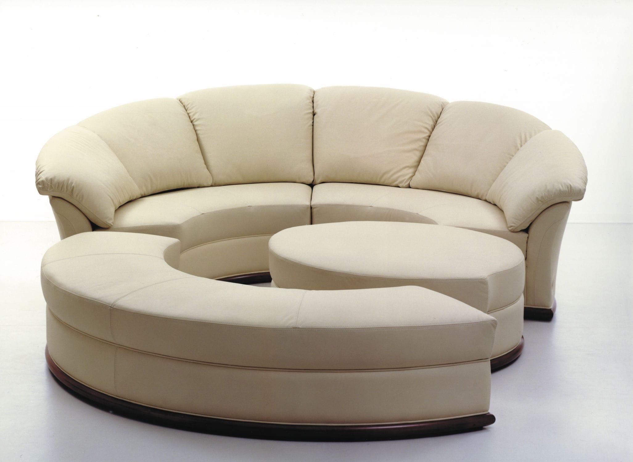 Sofa rund oval  Rundes Sofa / modulierbar / modern / Leder - PLANET - Nieri