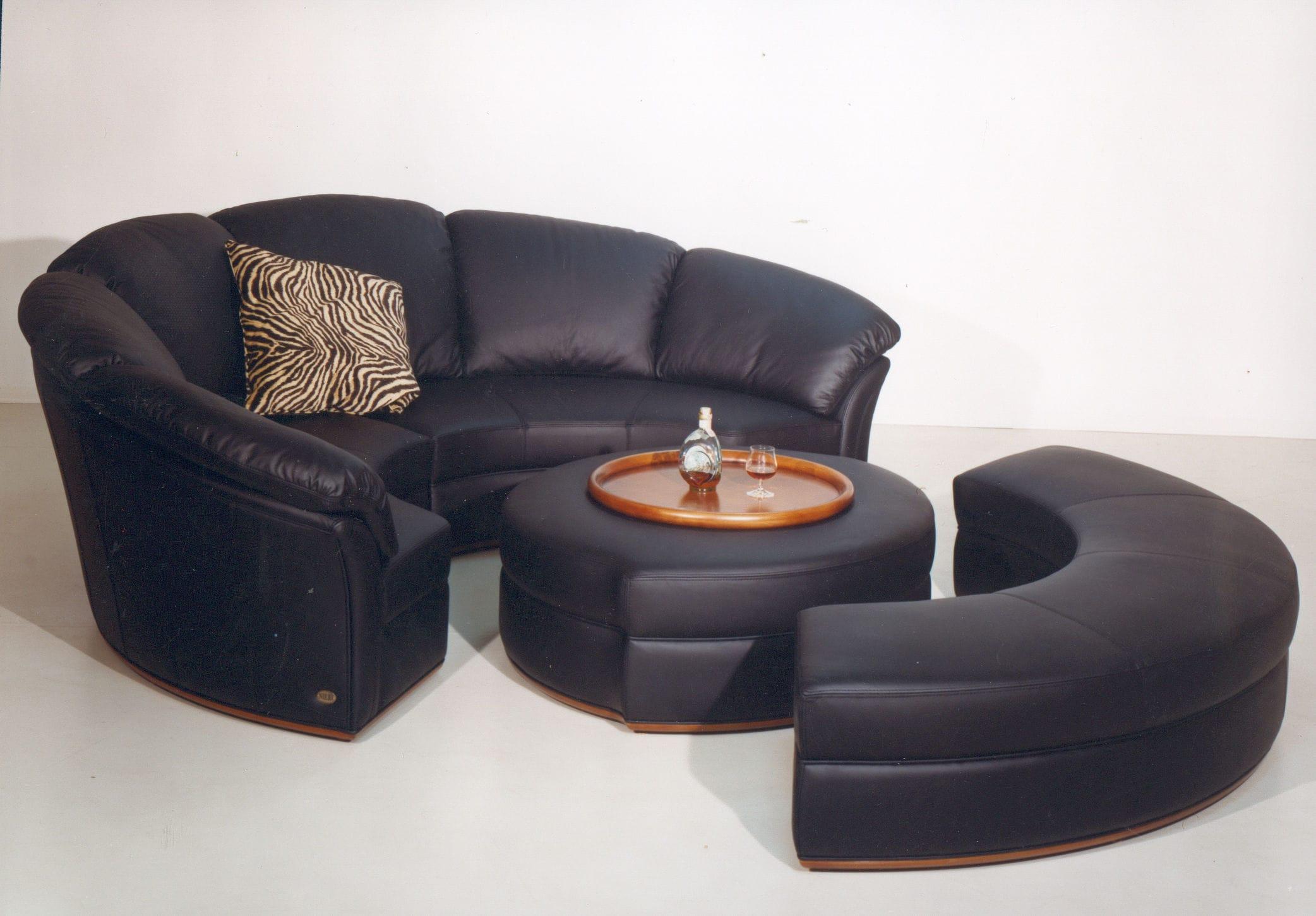 Rundes Sofa Modulierbar Modern Leder Planet Nieri