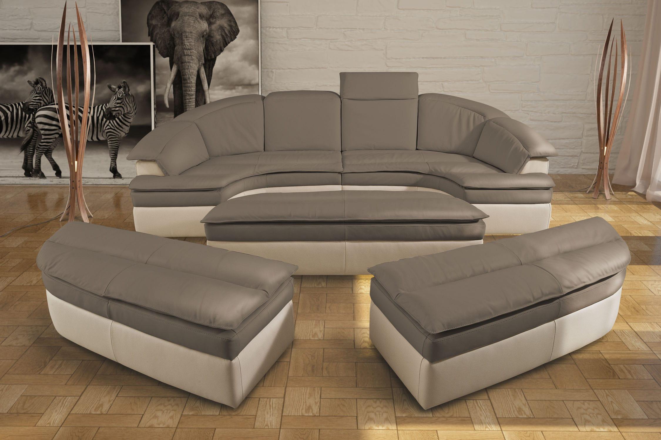 Modulierbares Sofa Halbrund Modern Leder Galaxy Combi Nieri