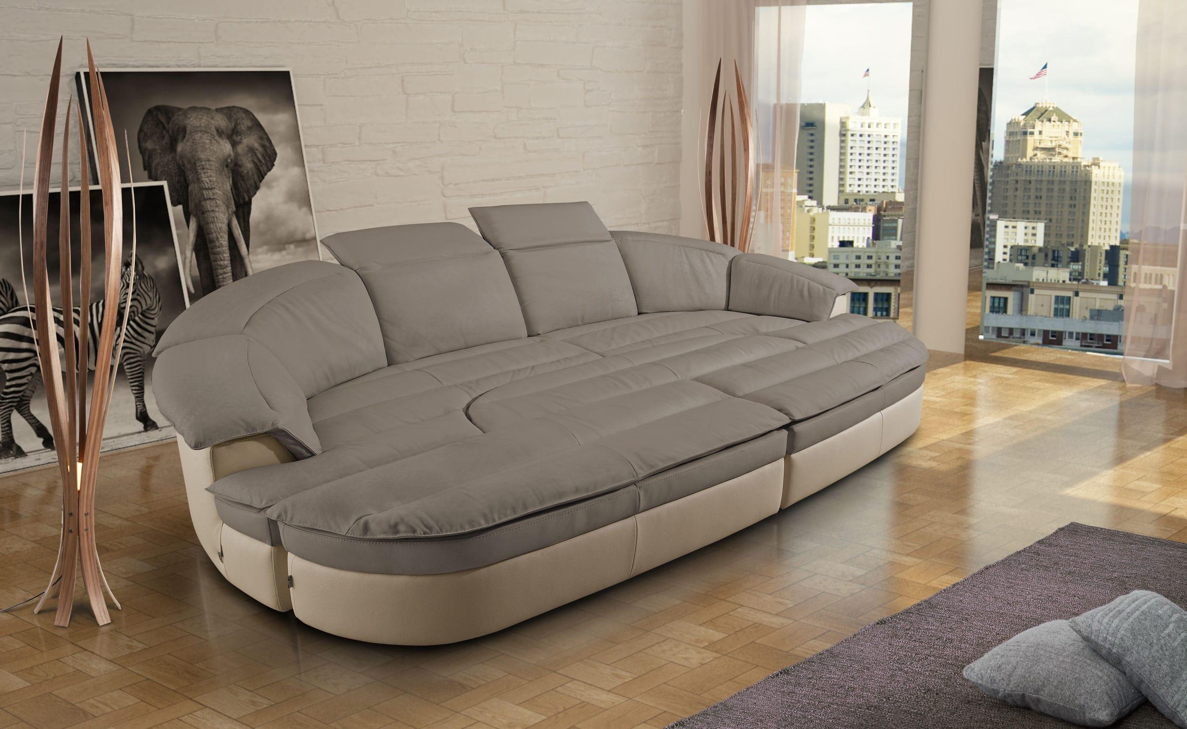 Sofa halbrund  Modulierbares Sofa / halbrund / modern / Leder - GALAXY COMBI - Nieri