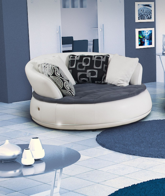 Designer couch rund  Halbrundes Sofa / rund / modern / Leder - ESPACE - Nieri