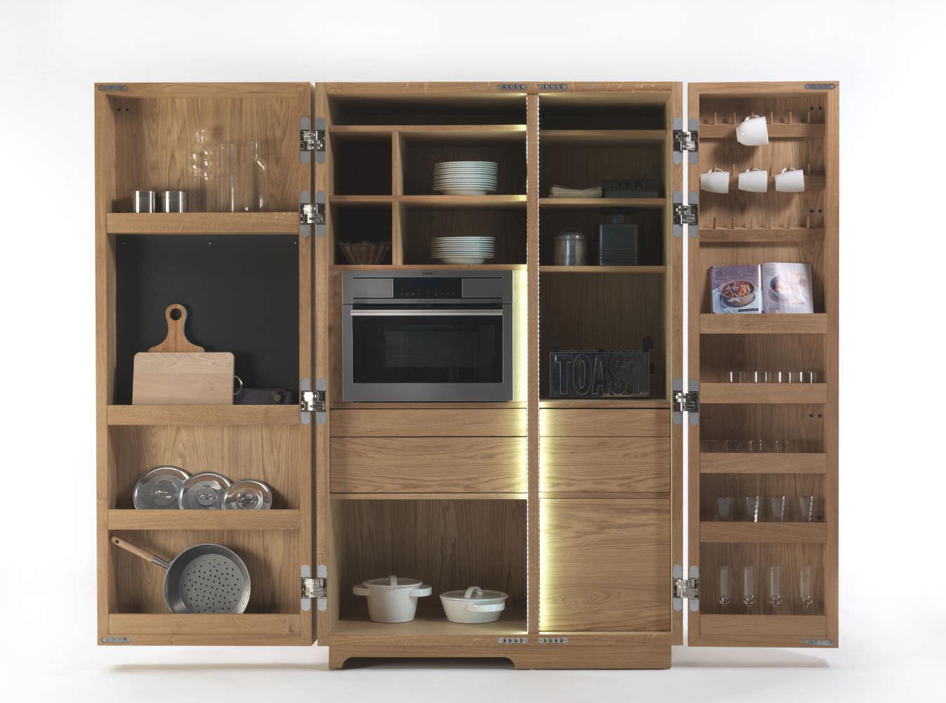Moderner Lagerschrank für Küchen / Holz - CAMBUSA by Giuliano ...