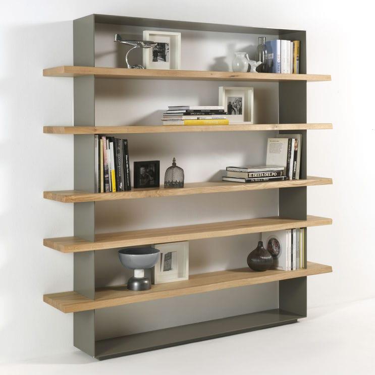 Modernes Bücherregal modernes regal massivholz eisen riva industria mobili