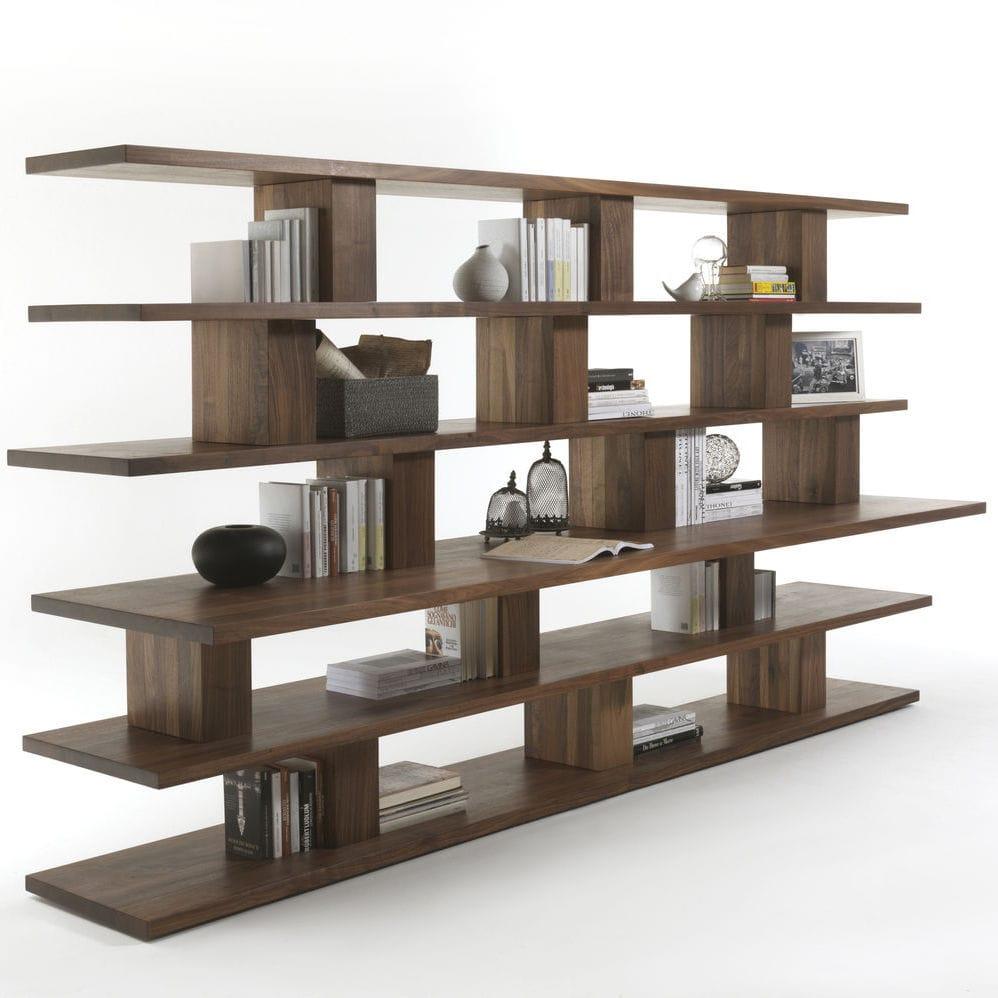 Modernes Regal Aus Eiche Massivholz Recycelt Bookshelf By