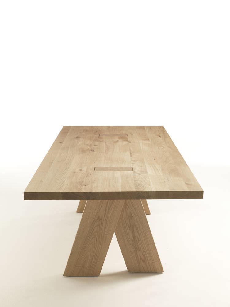 ... Moderner Tisch / Aus Eiche / Massivholz / Rechteckig JEDI By Bartoli  Design Riva Industria Mobili ...