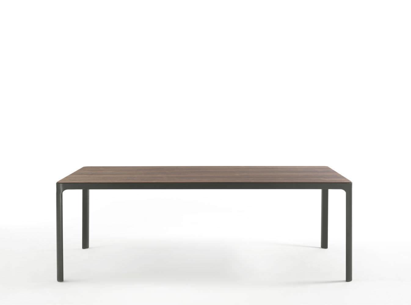 Moderner Tisch / Holz / Lackiertes Metall / Rechteckig   HUG By Alessandro  Bonato