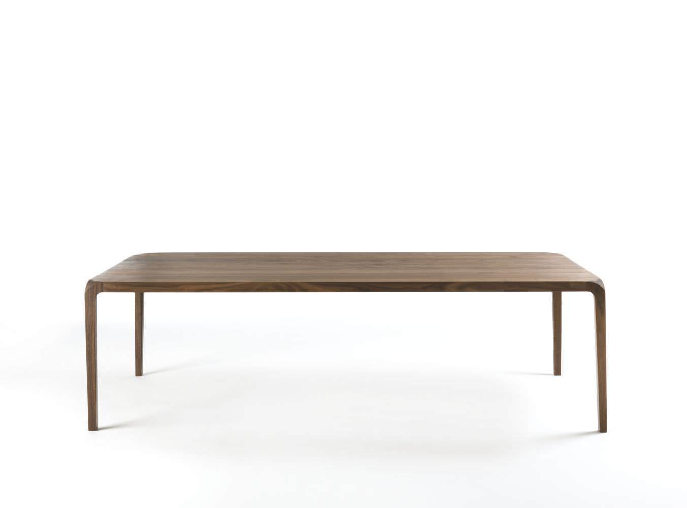 moderne tisch / aus massivholz / rechteckig / für innenbereich, Möbel