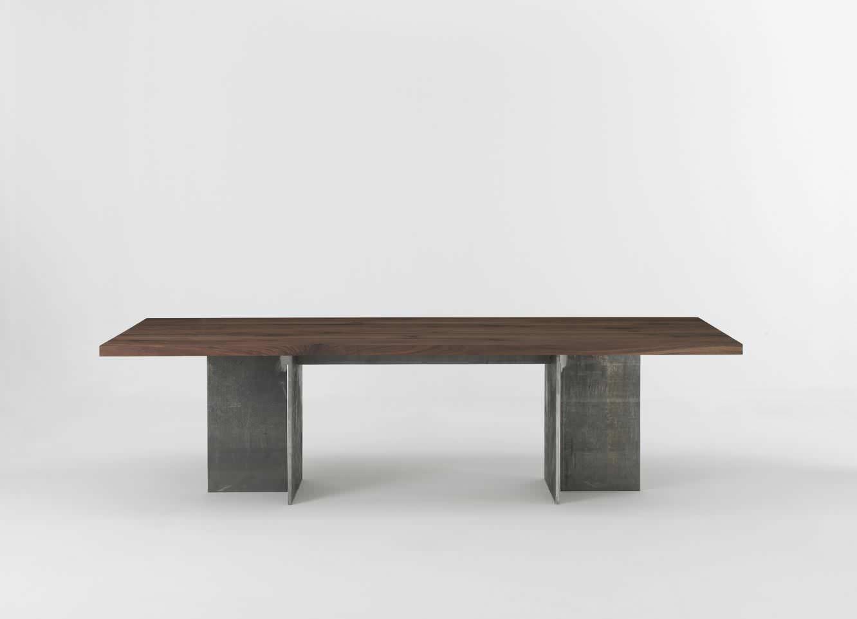 Moderner Tisch / Massivholz / Eisen / Rechteckig   GUALTIERO By Gualtiero  Marchesi