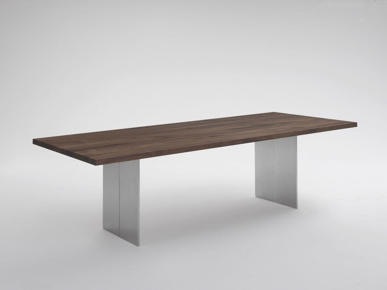 ... Moderner Tisch / Massivholz / Aus Aluminium / Rechteckig ORLANDO Riva  Industria Mobili