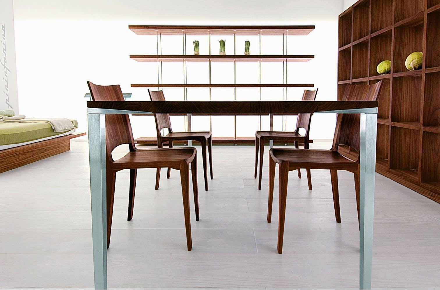 ... Moderner Tisch / Massivholz / Aluminium / Rechteckig ALFREDO Riva  Industria Mobili ...