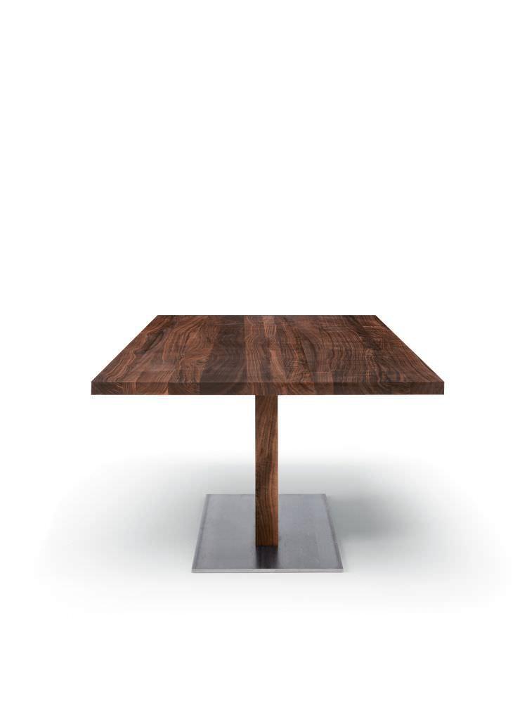 moderner tisch / aus massivholz / oval / rechteckig - parsifal, Möbel