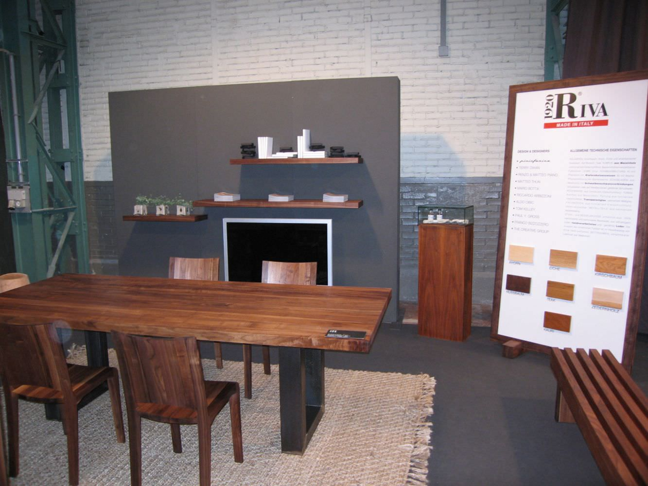 ... Moderner Tisch / Massivholz / Eisen / Edelstahl SHERWOOD Riva Industria  Mobili ...