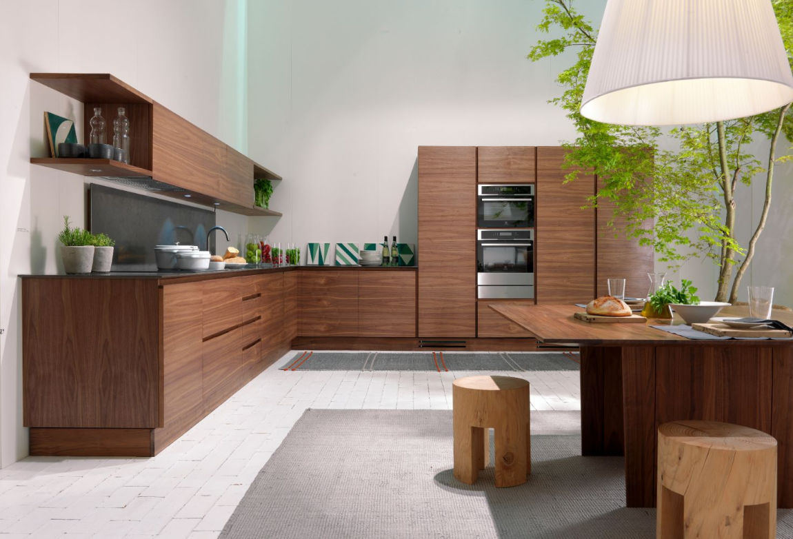 Moderne Küche / Holz / Kochinsel / ohne Griff - LA CUCINA by Matteo ...