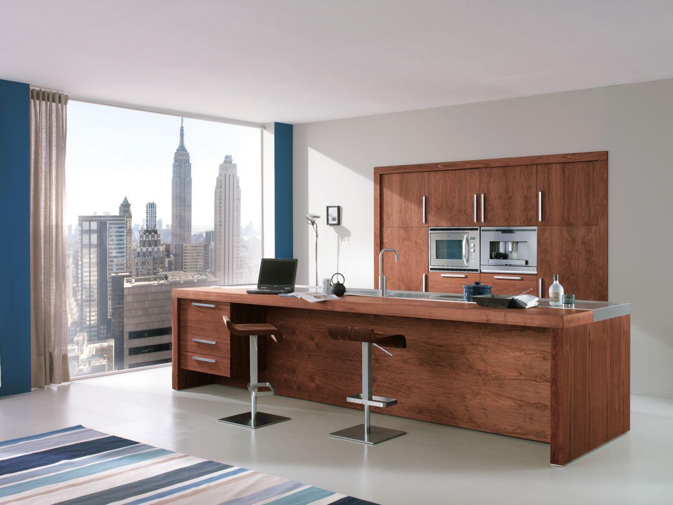 Moderne Küche / Holz / Kochinsel - LIFE - Riva Industria Mobili | {Moderne küchen mit kochinsel holz 75}
