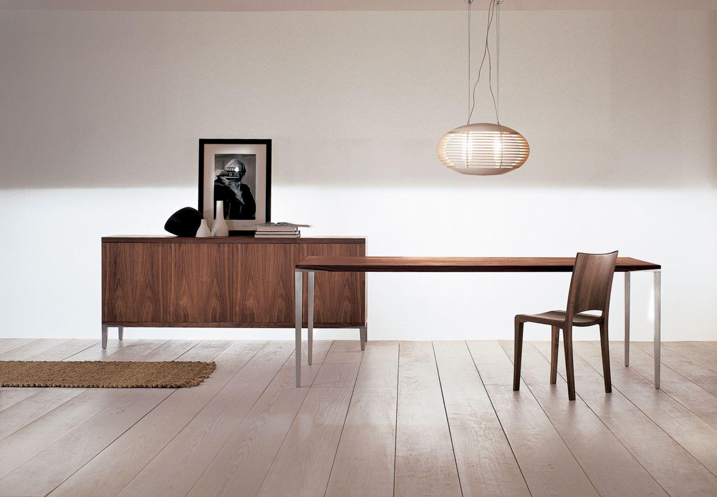 ... Moderner Tisch / Massivholz / Aluminium / Rechteckig ALFREDO Riva  Industria Mobili