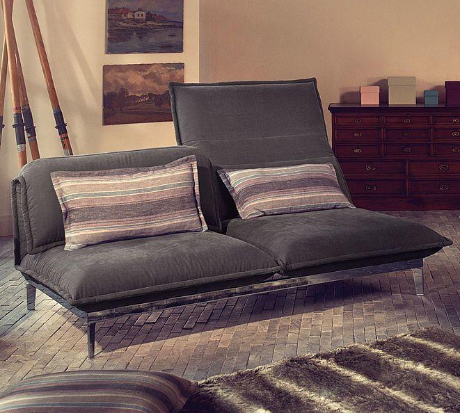 Konvertibles Sofa Modern Stoff Leder Nova By Joachim Nees
