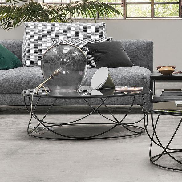 Moderner Couchtisch Glas Stahl Rund 8770 By Annette Lang