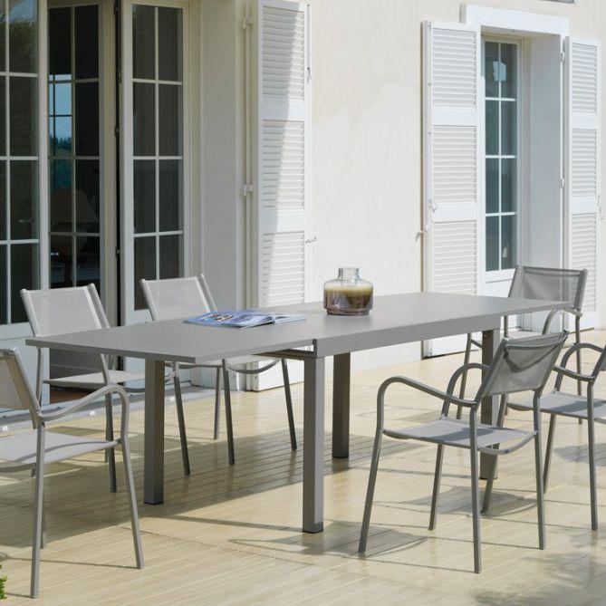 Klassischer Tisch / Metall / rechteckig / für den Garten - MO2550 ...