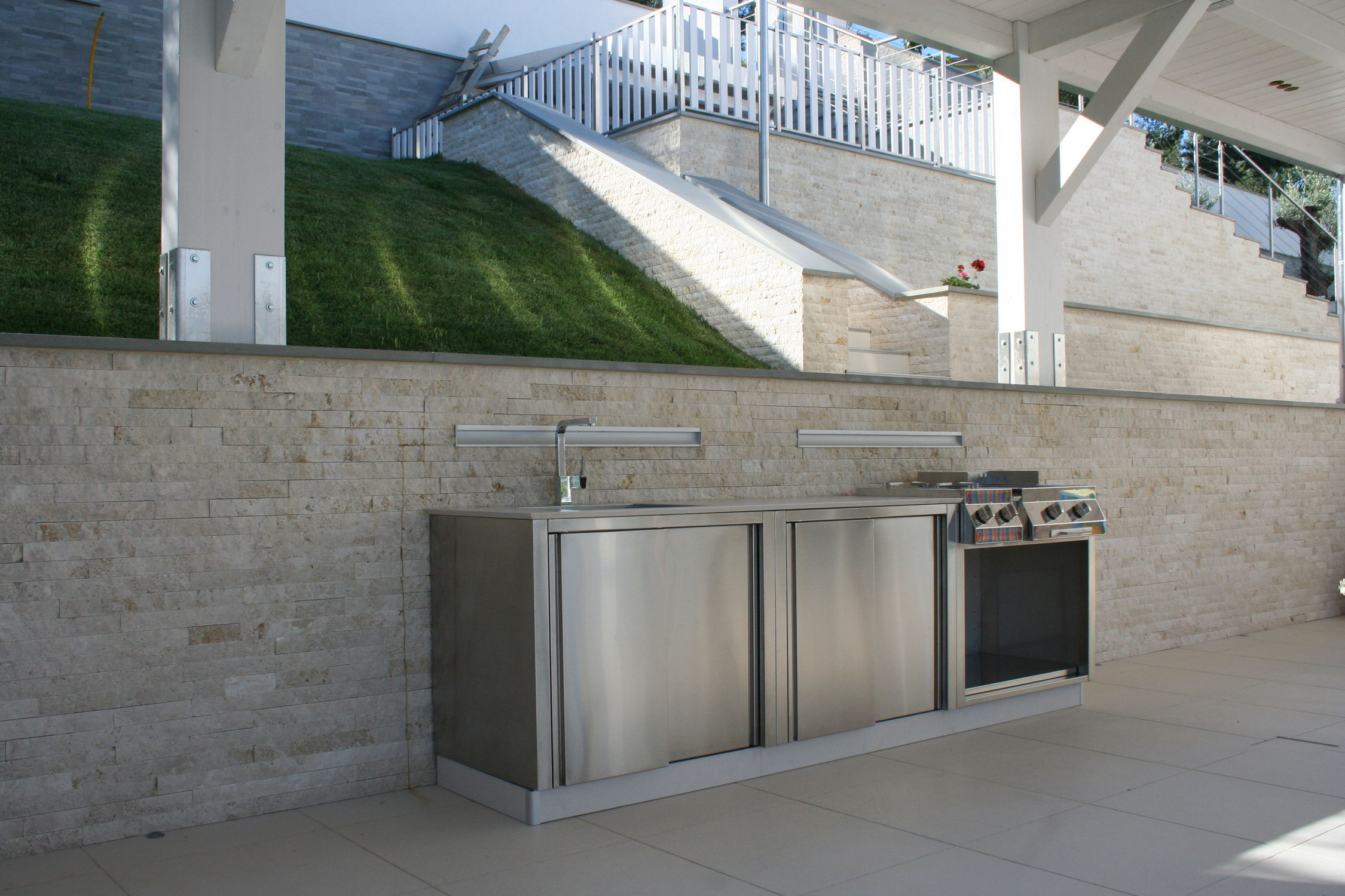 Outdoor Küche Edelstahl : Klassische küche edelstahl außenbereich ohne griff outdoor