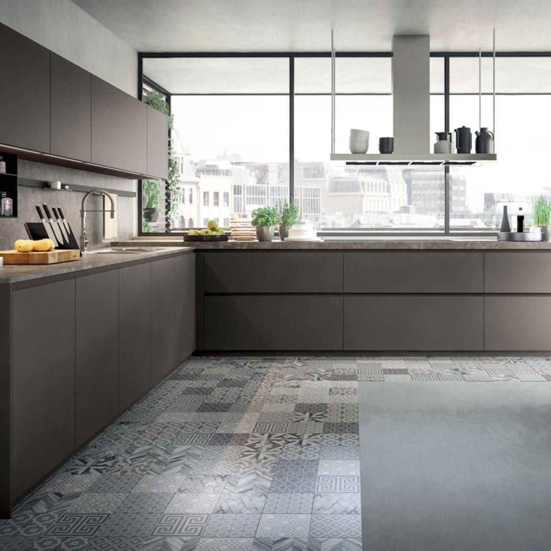 Moderne Küche / lackiertes Holz / L-förmig / ohne Griff - OMICRON 22 ...